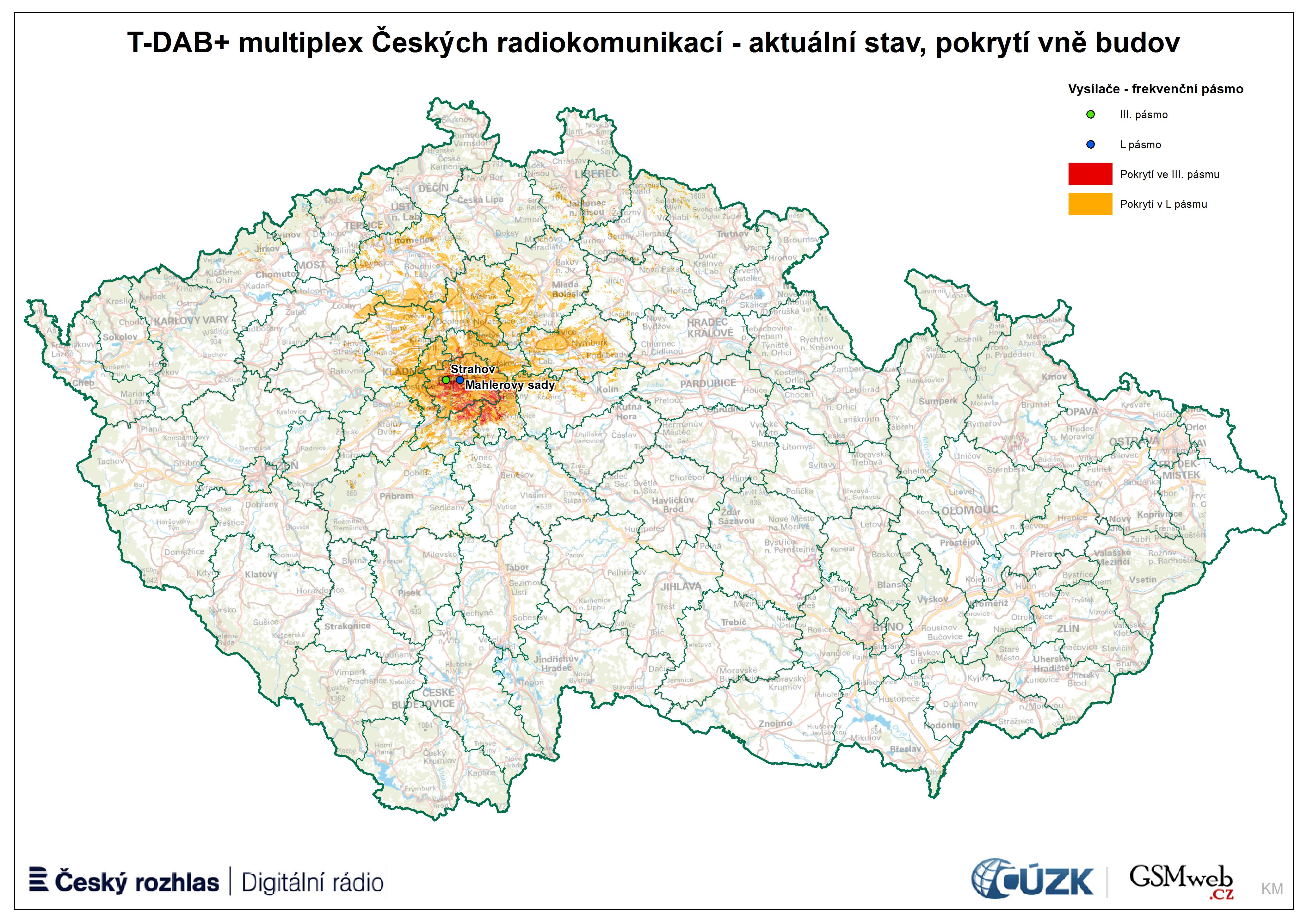 Pokrytí muxu CRA 10D + LI (autor: Karel Mikuláštík)